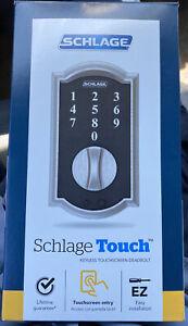 Schlage Touch Aged Bronze Camelot Deadbolt - BE375VCAM716