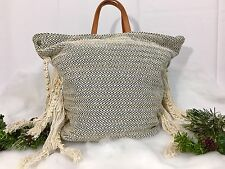 Bohemian Multi Way Tassel Beaded Beach Festival Coachella Tote Bag Backpack NWT