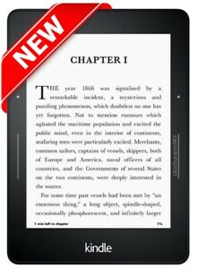 NEW! Amazon Kindle Voyage (7th Generation) 4GB, Wi-Fi, 6in Black e-reader Tablet
