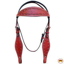 New listing Western Horse Headstall Tack Bridle American Leather Barb Wire Hilason