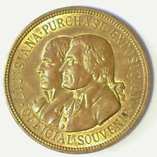 LOUISIANA PURCHASE EXPOSITION OFFICIAL SOUVENIR BRONZE HK-303 UNC.