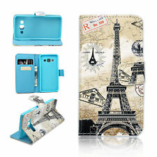 Wallet Card Slots Leather Flip Book Design Cover Case For Samsung Galaxy A3 2015