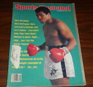 September 29, 1980 Sports Illustrated Muhammed Ali Boxing  NO ADDRESS LABEL