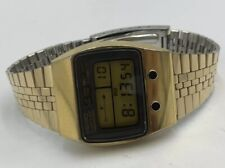 RARE SEIKO LCD GOLD M159-5059 JAPAN Men's Digital WATCH Vintage