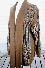 ESCADA Leopard Oversize Cardigan Sweater Women's Euro 38/Medium Mohair Wool