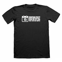 Socialise t-shirt, antisocial t shirt, funny t shirts for men, nerd t-shirts tee