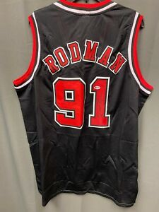 Dennis Rodman #91 Signed Chicago Bulls Jersey Autographed AUTO BAS COA Sz XL