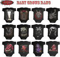 Spiral Direct BABY GROWS/Toddler/Metal/Skull/Rock/Skeleton/Cat/Pug/Tuxed/Romper