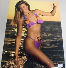 CHRISTY BRINKLEY * G.A. CERTIFIED * ACTRESS - MODEL *   HAND SIGNED 11 X 14'