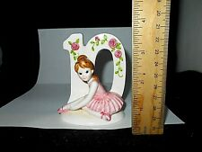 Vintage Norcrest Birthday Girl Ballerina Cake Topper Figurine Age 10