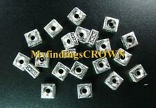 250 Pcs Tibetan Silver square spacer beads 5mm FC536