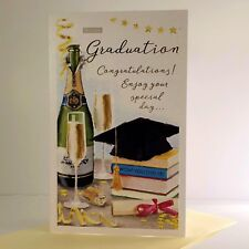 ICG On Your Graduation Congratulations Card Champagne Hat Books/8355