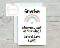 Thinking of You Card Miss You Sending Hugs Nanny Mum Grandad Dad Lockdown Gift