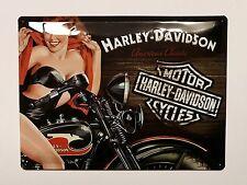 Harley-Davidson Pin Up - Tin Metal Wall Sign