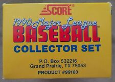 1990 Score Baseball Complete Boxed Set with 5 Scoremasters Insert Cards