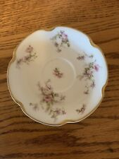 """Haviland Limoges France Schleiger with Gold 5.5"""" Plate China antique circa 1905"""