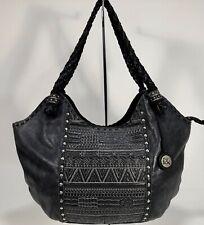 THE SAK Indio Leather Satchel Black Embroidered Leather Satchel Bag