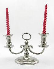 candelabro antico elegante peltro argento solido robusto prestigio CAVAGNINI