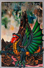 Rolling Stones Cardiff and Pembroke Castle 1973 A1 High Quality Canvas Art Print