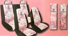 5 pc King's Camo Pink Shadow Universal Seat Covers Bench Bucket Lot