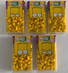 5 X 49g Tic Tac Sweets Fresh Bubble Gum Flavour The Simpsons