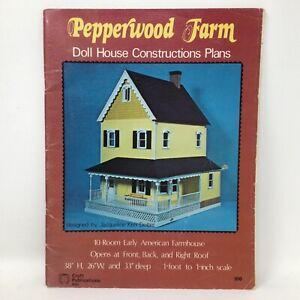 Pepperwood Farm Dollhouse Construction Plans Early American FarmhouseCraft 1976