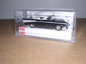 "BUSCH #45007   1957 Chevrolet Bel-Aire Convertible w/Top Down ""Black""  H.O. 1/87"
