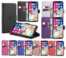 For iPhone 6S 7 8 Plus X Card Wallet Flip Leather Stand Phone Case Cover