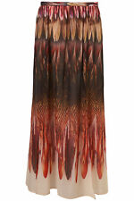 TOPSHOP PREMIUM BEAUTIFUL FEATHER PRINT CHIFFON LONG MAXI SKIRT NEW