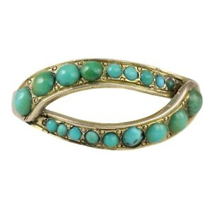 ANTIQUE VICTORIAN GOLD TURQUOISE EYE RING