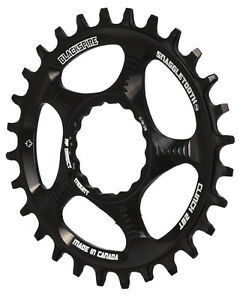 Blackspire Snaggletooth Cinch Narrow Wide 1x Direct Mount Chainring Black 28t