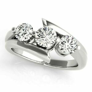 2.00 Ct Round Diamond Engagement Solitaire Ring Solid 14K White Gold Size M N P