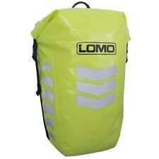 Lomo Hi Viz Pannier Bag. Waterproof High Visibility Yellow Dry Bag