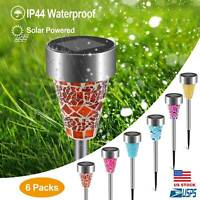 6X Solar Garden Light Waterproof LED Path Lawn Yard Decorative Lamp Outdoor - US