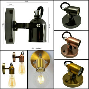 WALL LIGHT RETRO INDUSTRIAL LAMP HOLDER SCONCE ANTIQUE UP DOWN EDISON FLUSHMOUNT