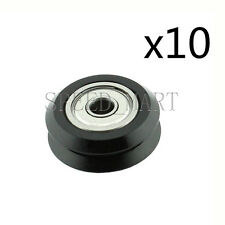 10x POM Dual V Groove Idler Pulley Linear Extrusion Sheave With bearing