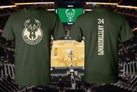 Milwaukee Bucks Giannis Antetokounmpo #34 Cotton T-Shirt S-5X Priority Available