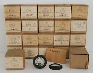 Pair Vintage 1954 GE Military Spec DC Voltmeter MR26W300DCVVR : NOS/NIB