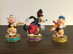 McDonalds 2002 Disney 100 Years Of Magic Lot of 3 Fiddler Fifer Pig Big Bad Wolf