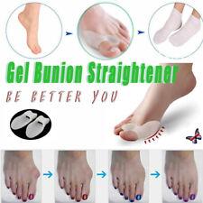 2PCS Foot Toe Bunion Protector Straightener Corrector Bunion Splint Silicone UK
