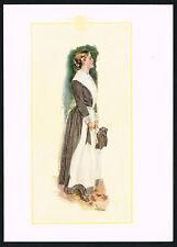 1906 Antique Howard Chandler Christy Victorian Girl Lady Fashion Art Print h