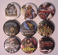 9 Joe D'Amato badges Emanuelle in America Buio Omega La Retape Witchery Zombie 5