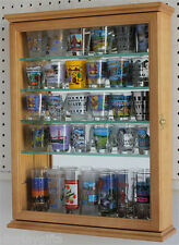 36 Shot Glass Shooter Display Case Cabinet Wall Holder Cabinet, SCD06-OAK