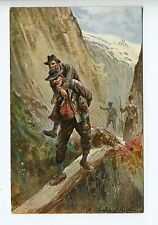 "Raphael Tuck ""In The Alps""  A Blunder of The Alps Postcard"