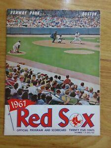 BOSTON RED SOX vs WASHINGTON SENATORS September 11 1967 Program CARL YASTRZEMSKI