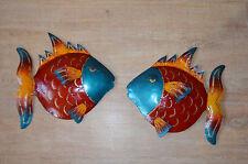 métal supports muraux poisson,tableau mural,décoration murale,poissons Ensemble