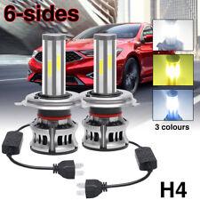 6-Side H4 Led Headlight Kit Light Bulb Hi/Lo Beam 3000K 6000K 7000K 9003 42000Lm