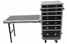 Utility Tech Tool 7 Drawers ATA Road Case With Lid Table