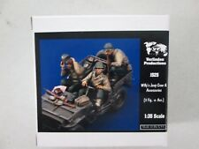 Verlinden Productions Willy's Jeep Crew & Accessories No 1525 Model Kit 1:35