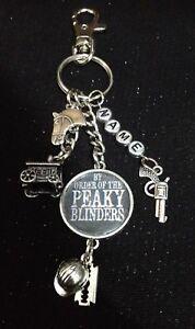 Personalised 'Peaky Blinders' inspired keyring + free gift bag.